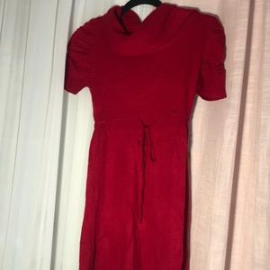 Cute red dress that has a rope belt
